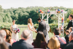 meadowlark botanical gardens vienna va wedding spring outdoor ceremony