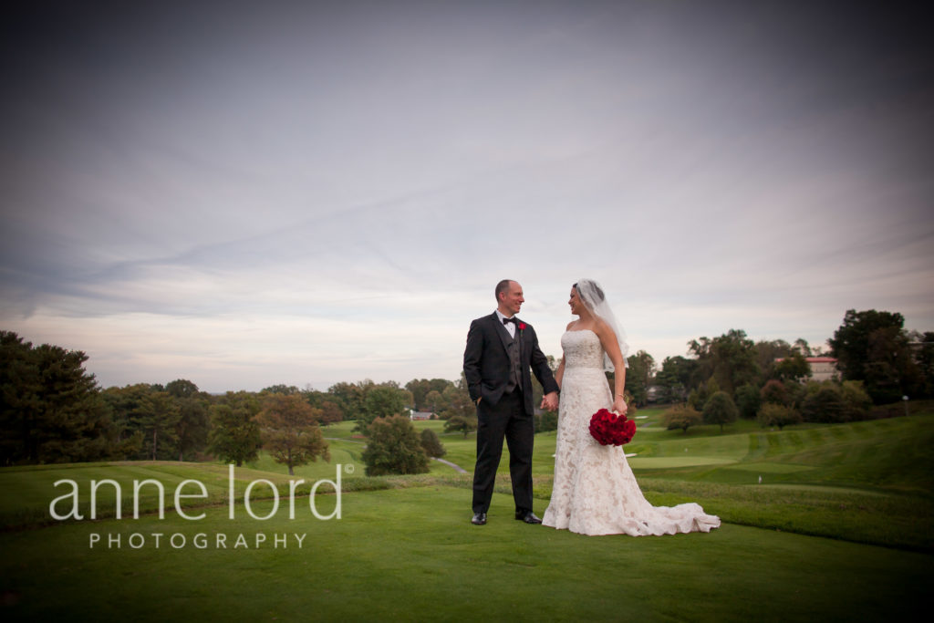 washington golf and country club arlington va wedding fall red