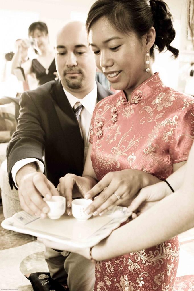 Chinese tea ceremony backyard wedding Potomac