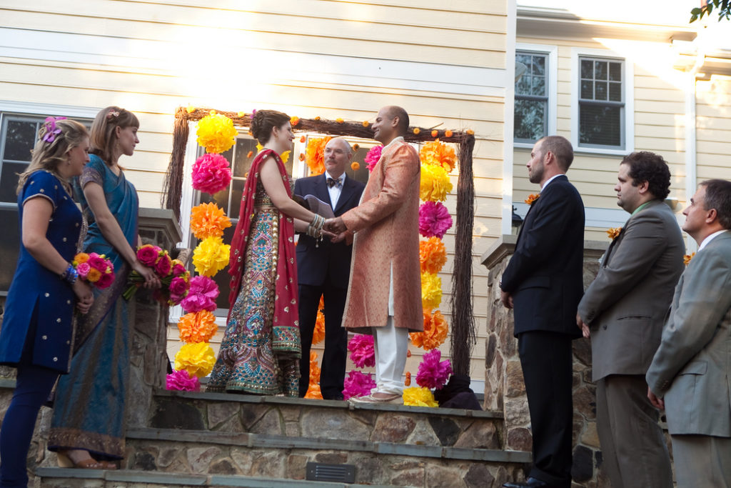 backyard wedding ceremony indian fusion