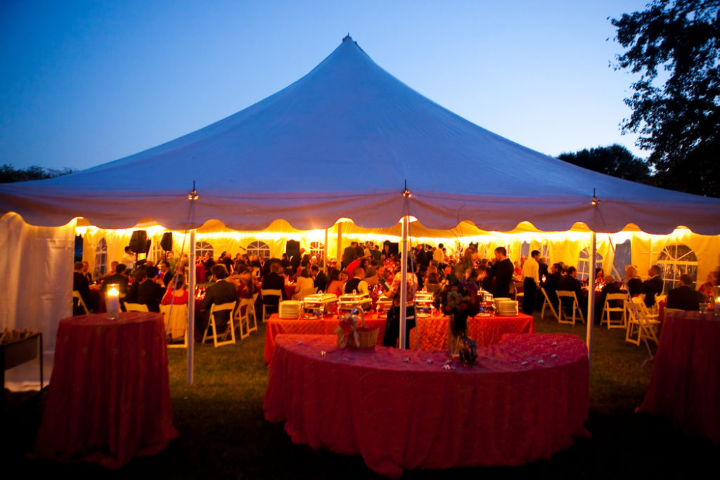At home wedding Great Falls virginia tent