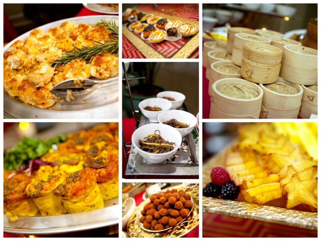 Indian Chinese wedding food stations Main Event Caterers