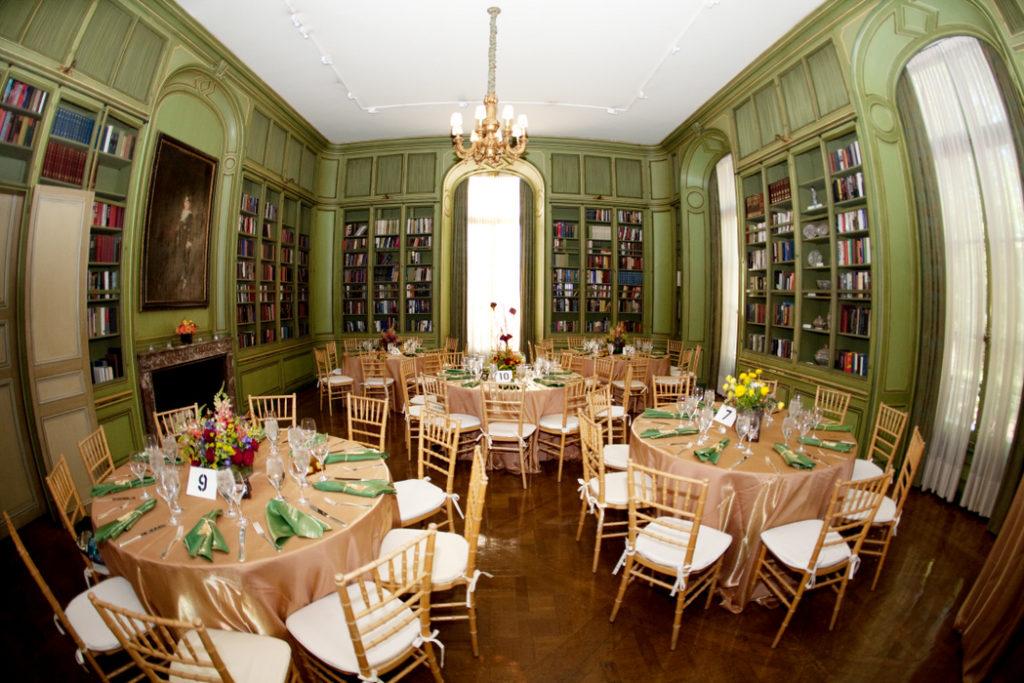 Meridian House Washington DC wedding gold green