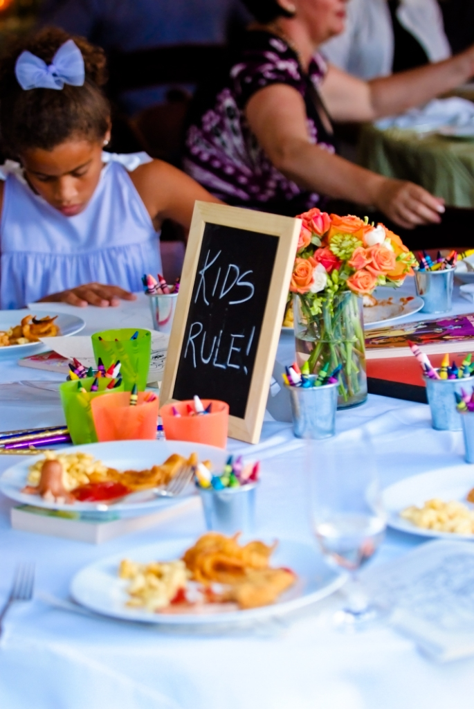 leesburg at-home wedding kids table