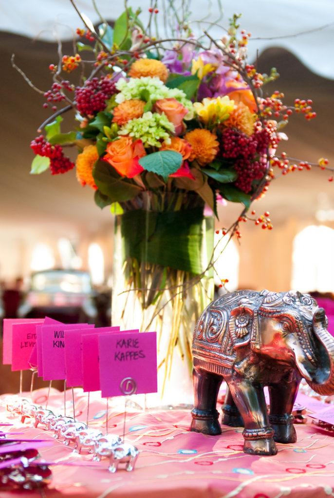 orange-fuchsia-wedding-flower-arrangement-tall