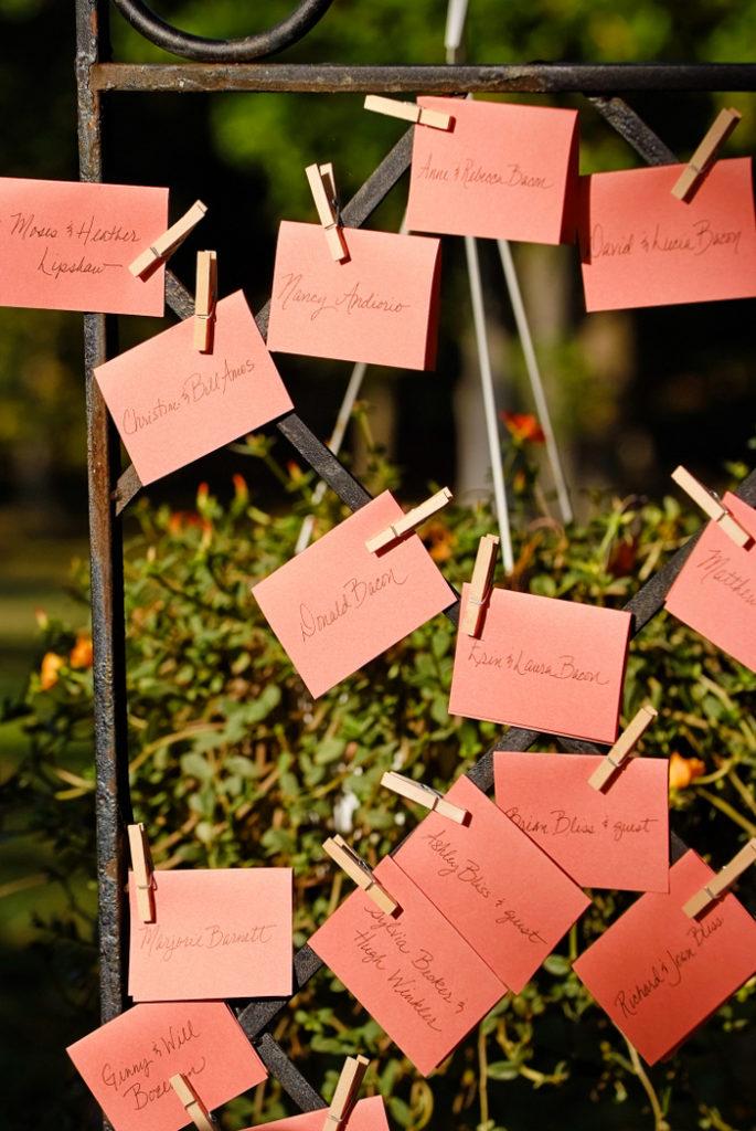 wedding-garden-trellis-escort-cards-orange