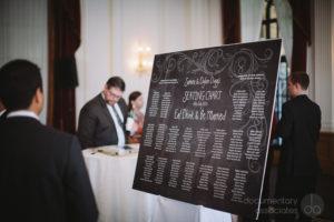 seating chart wedding black and white