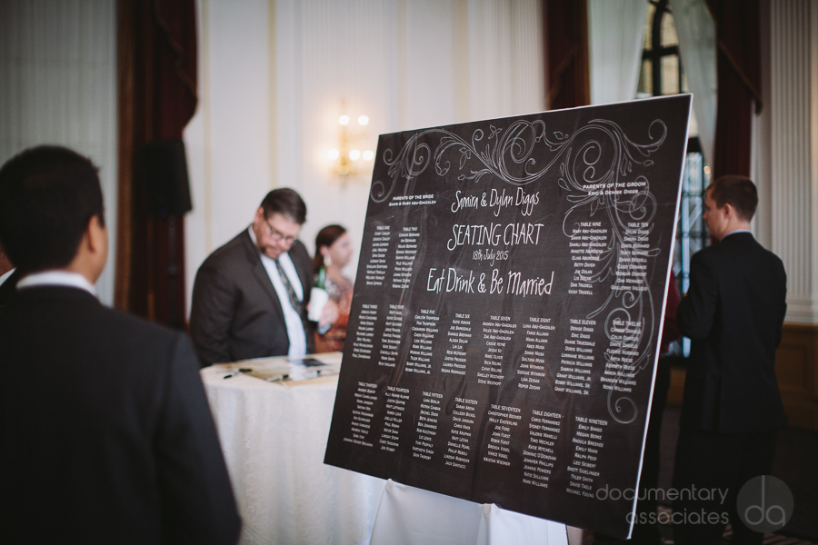 seating chart wedding black and white