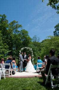 small tiny backyard wedding Virginia