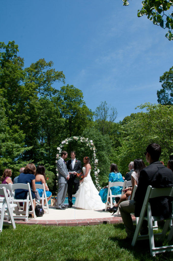 small tiny backyard wedding Virginia