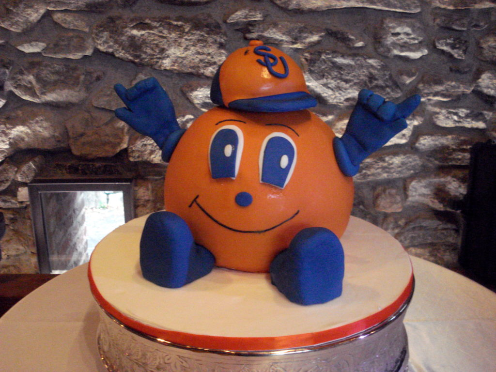 Syracuse Orange grooms cake Lulu Cake Boutique