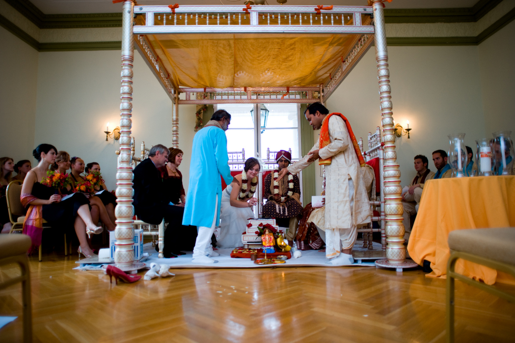 Oxon Hill Manor hindu lutheran wedding ceremony