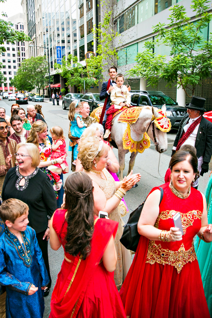 indian fusion wedding Washington DC Mayflower Hotel baraat