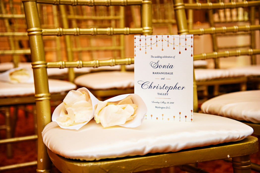 indian fusion wedding Washington DC Mayflower Hotel hindu christian ceremony program