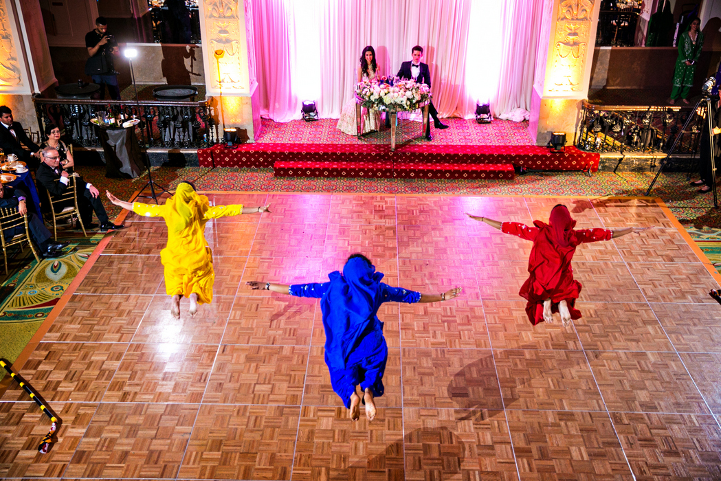 indian fusion wedding Washington DC Mayflower Hotel university of maryland bhangra dance