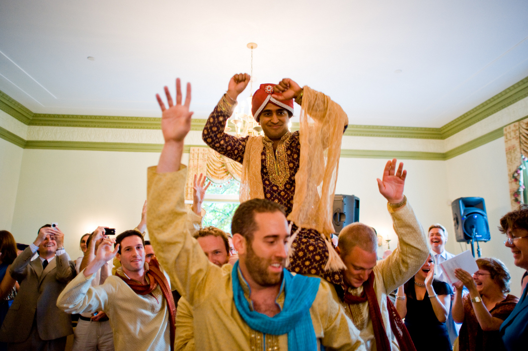 indian fusion wedding ceremony Oxon Hill Manor baraat