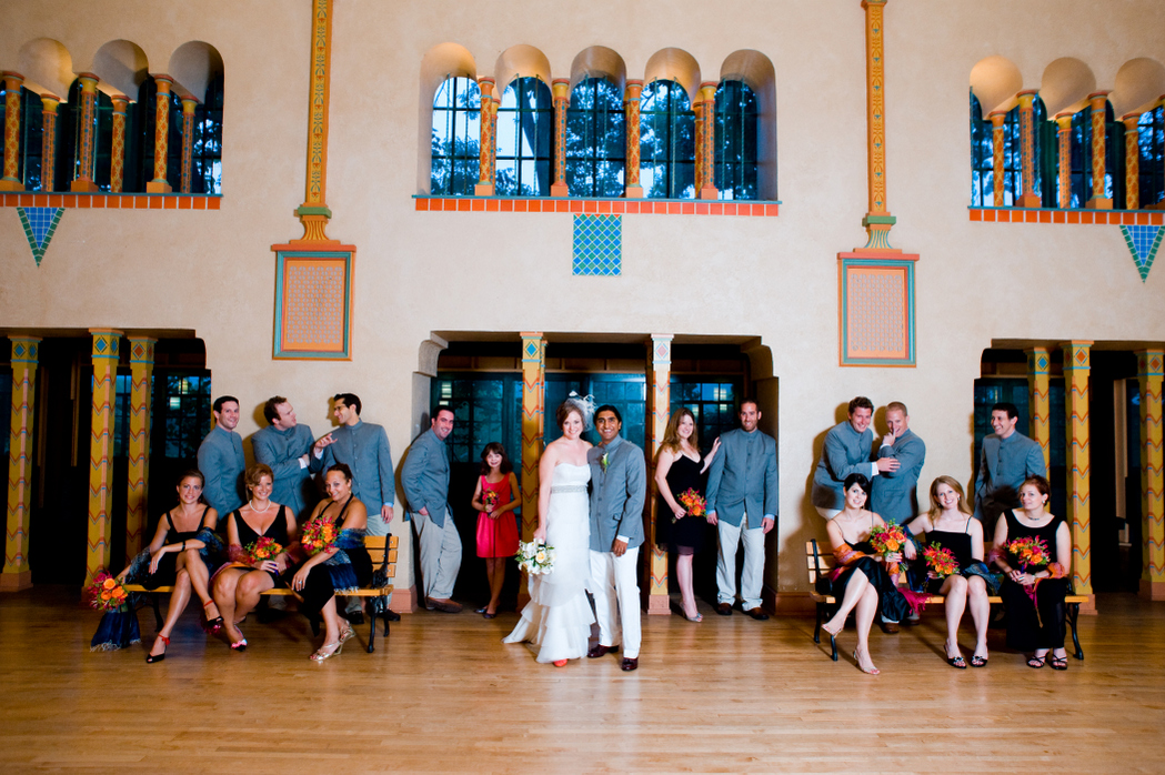 wedding party Spanish Ballroom Glen Echo Park