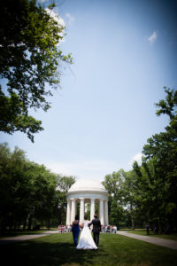 DC War Memorial wedding ceremony summer