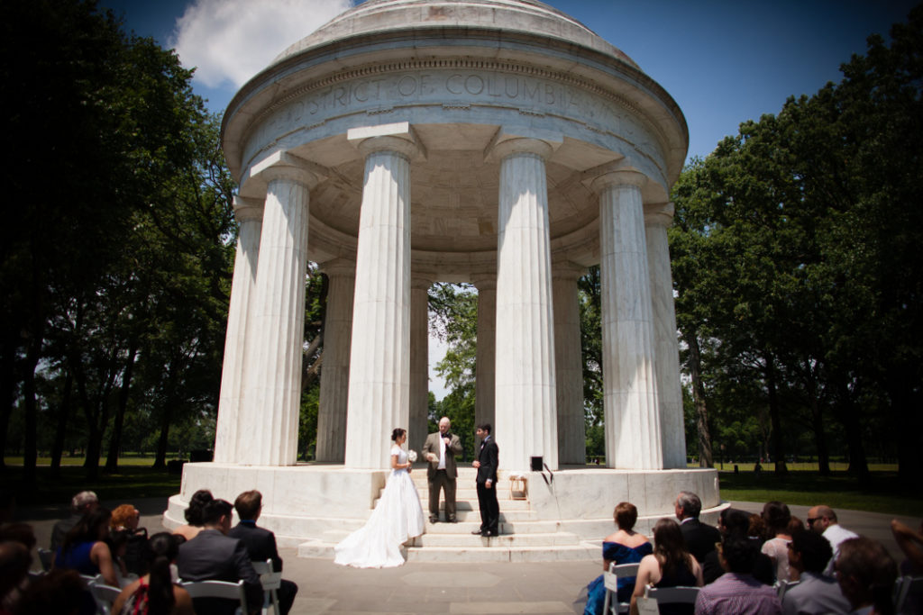 Washington DC War Memorial wedding ceremony