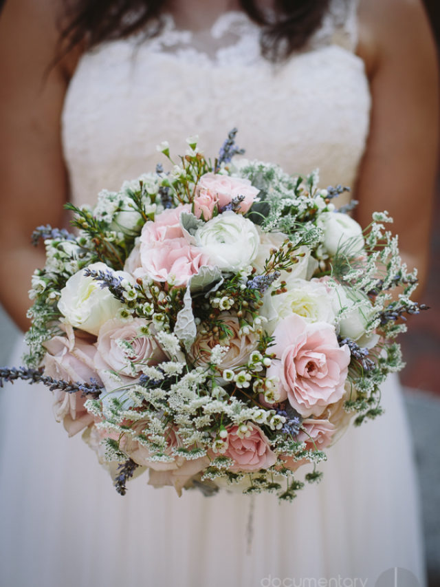 blush pink white soft romantic bridal bouquet Davincis florist