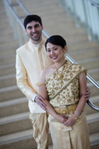 gold thai wedding dress outfit bride groom Washington DC