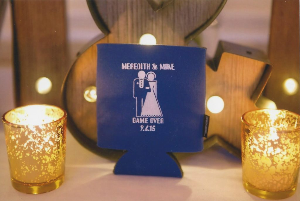 blue-white-game-over-wedding-koozie