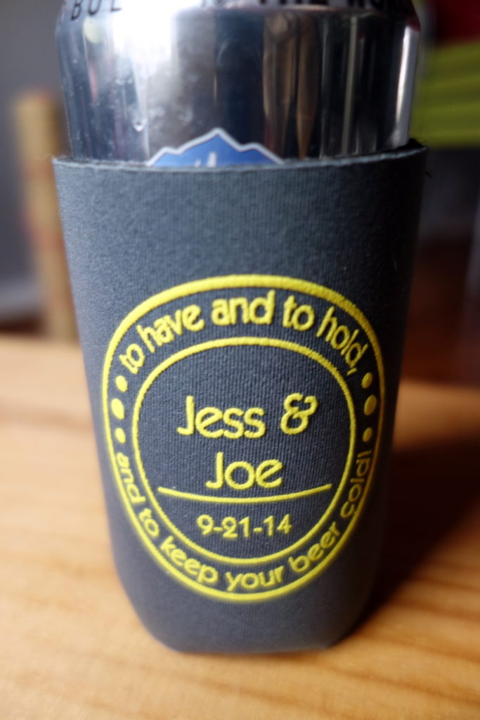 grey-yellow-beer-koozie-wedding-favor