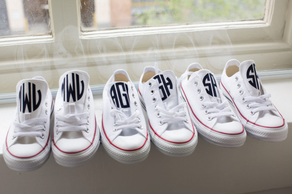 custom-monogram-sneakers-bridesmaids-wedding