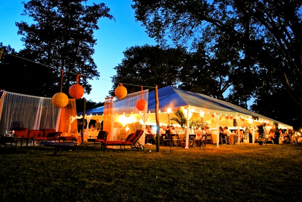 leesburg virginia at-home wedding tent