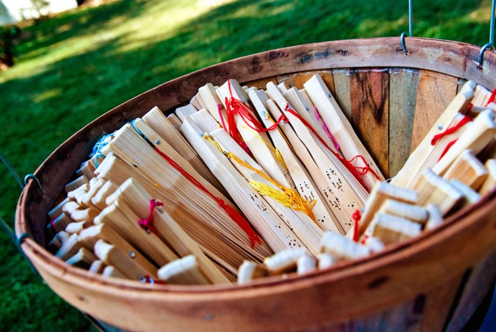 hand held sandlewood fans summer wedding