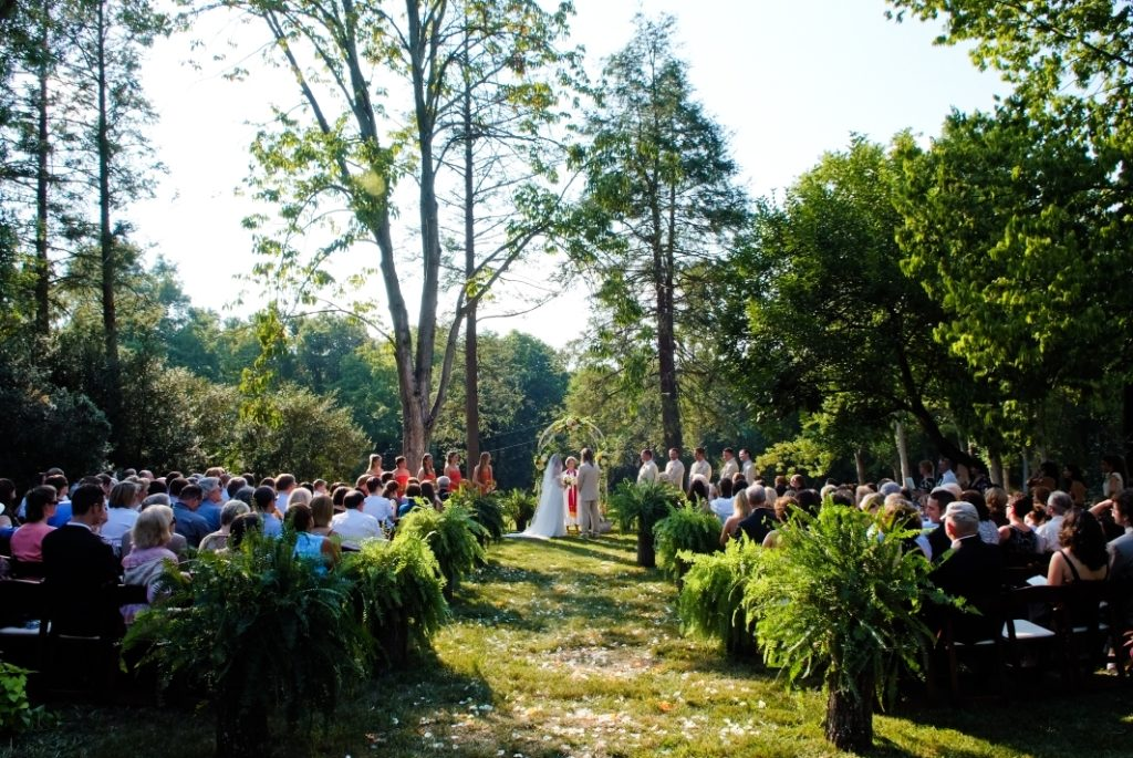 at-home wedding ceremony outdoors summer leesburg va