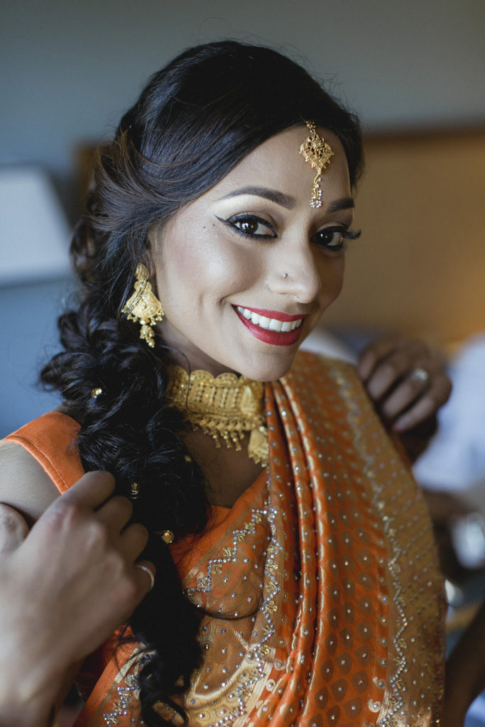 maryland-Indian-wedding-orange-gold-bride-sari
