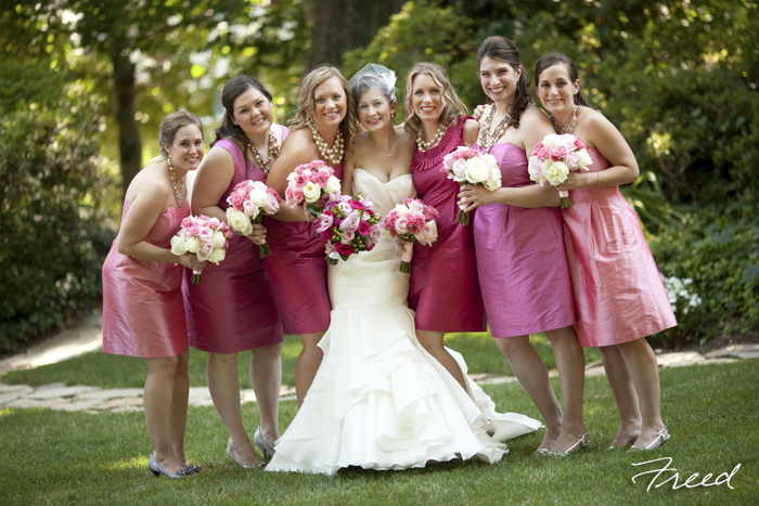 washington dc wedding meridian house pink bridesmaids dresses