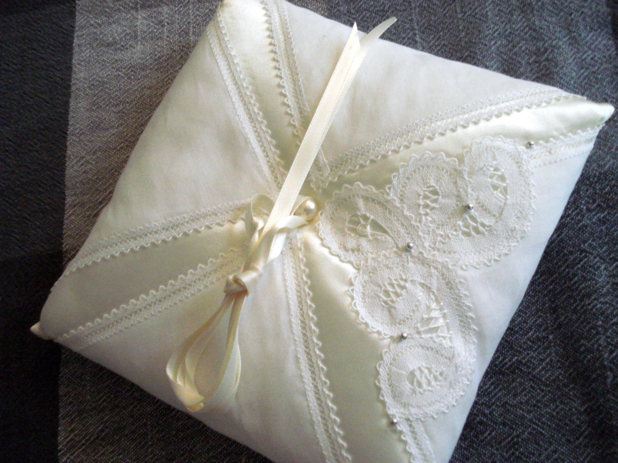 sellena rose blush pink flower pin pillow bearer wedding ring crystal girl