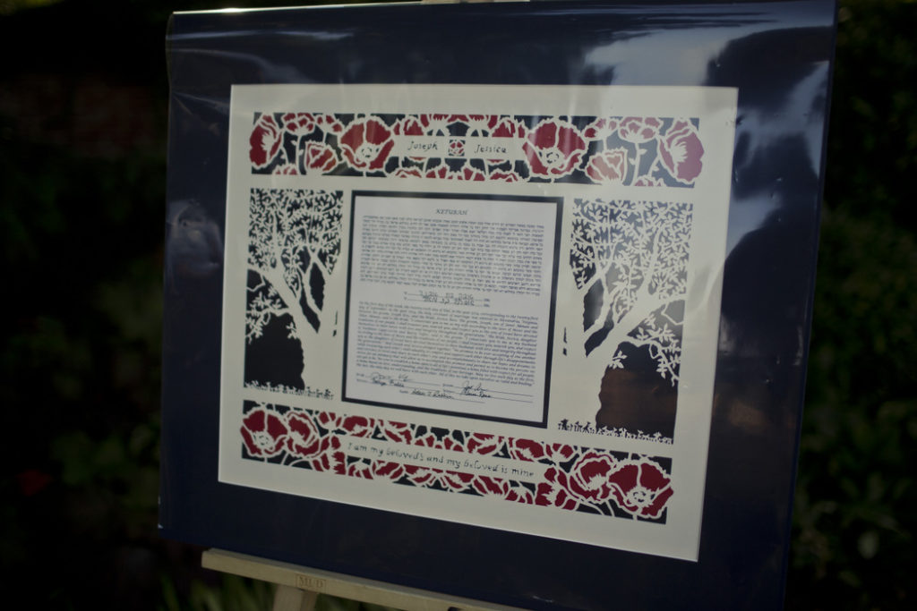ketubah-jewish-wedding-navy-red-laser-cut