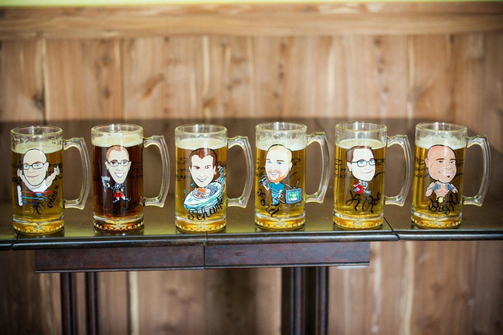 custom beer mugs groomsmen gift