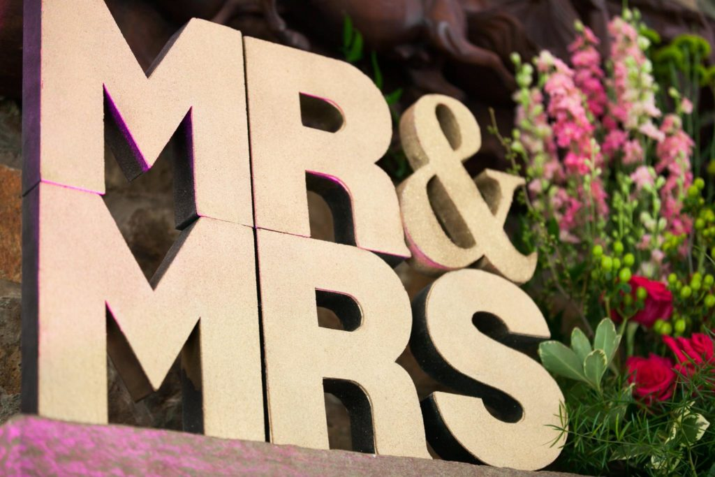 mr & mrs wedding decor washington dc wedding planner
