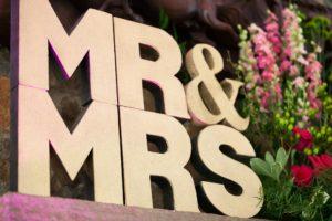 mr & mrs wedding decor washington dc wedding planner