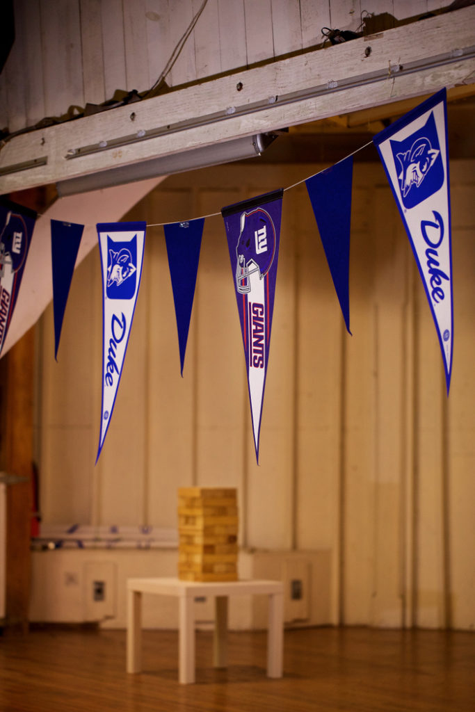 50th birthday party duke giants pennant flags