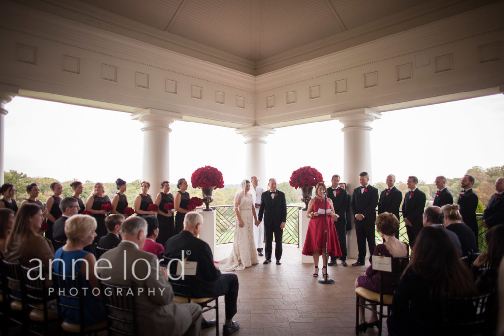 washington golf and country club wedding terrace ceremony