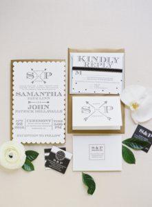 black-white-gold-modern-classic-wedding-invitations