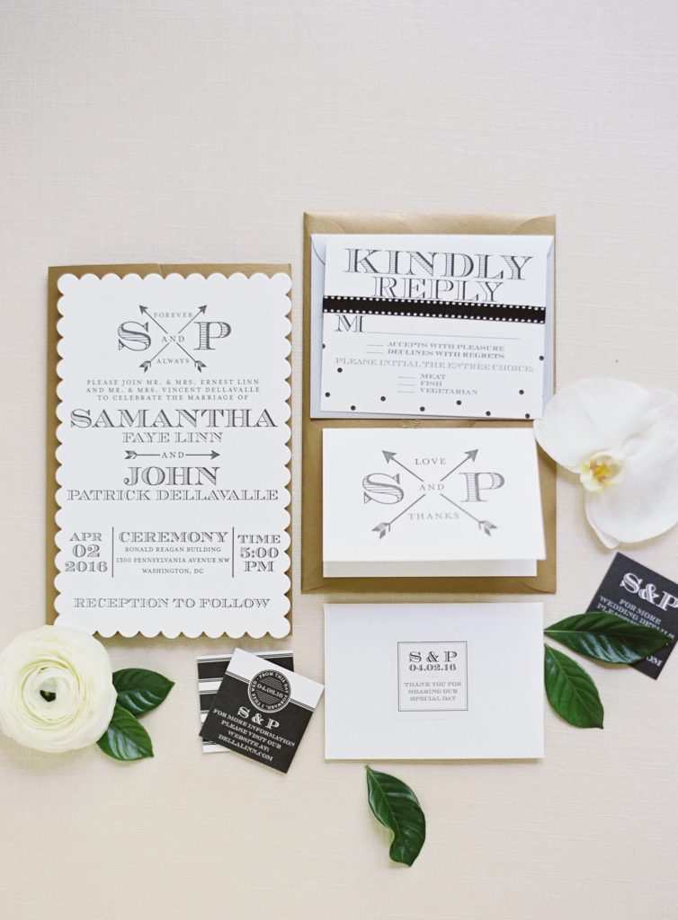black-white-gold-modern-classic-wedding-invitations