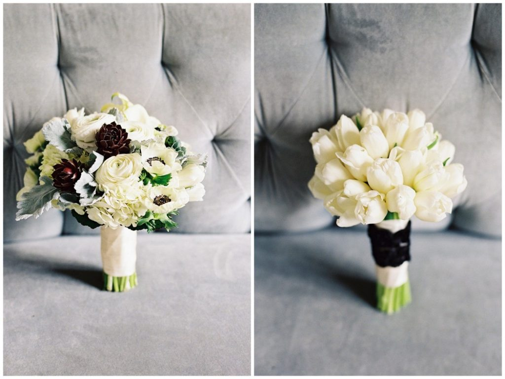 bridal-bridesmaid-bouquet-white-black-gray