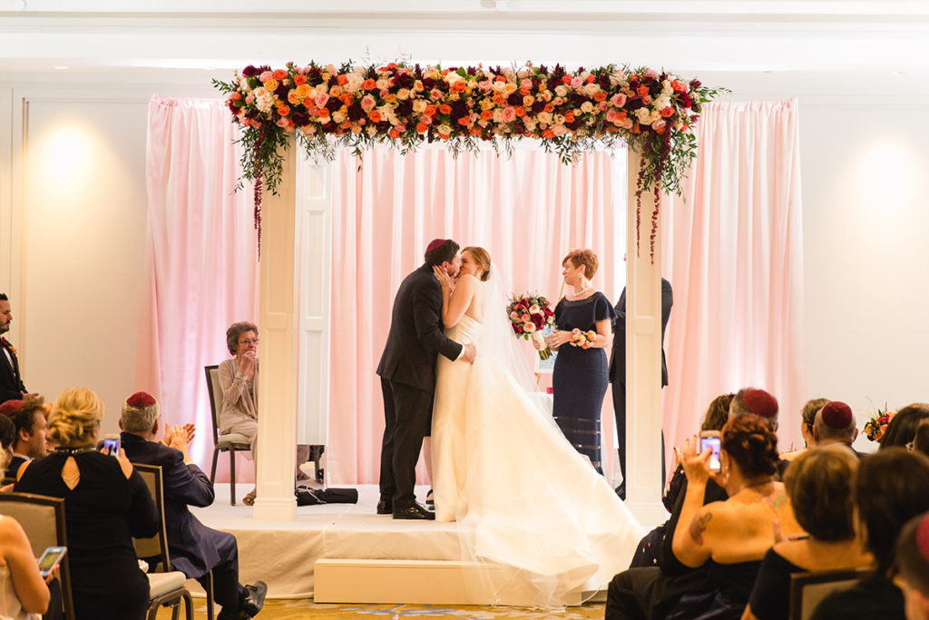Fairmont Hotel Washington DC fall jewish wedding ceremony white chuppah