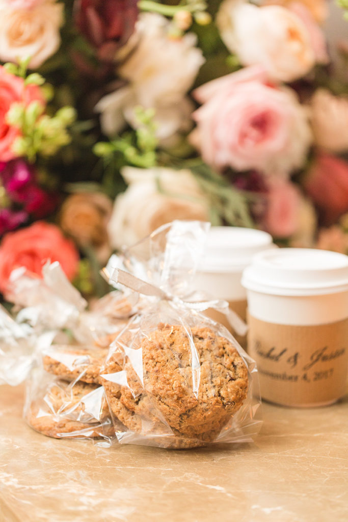 Fairmont Hotel Washington DC fall wedding cookies hot chocolate favors