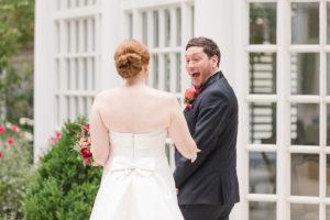 Fairmont Hotel Washington DC fall wedding first look