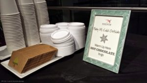 hot chocolate to go station winter party corporate washington dc