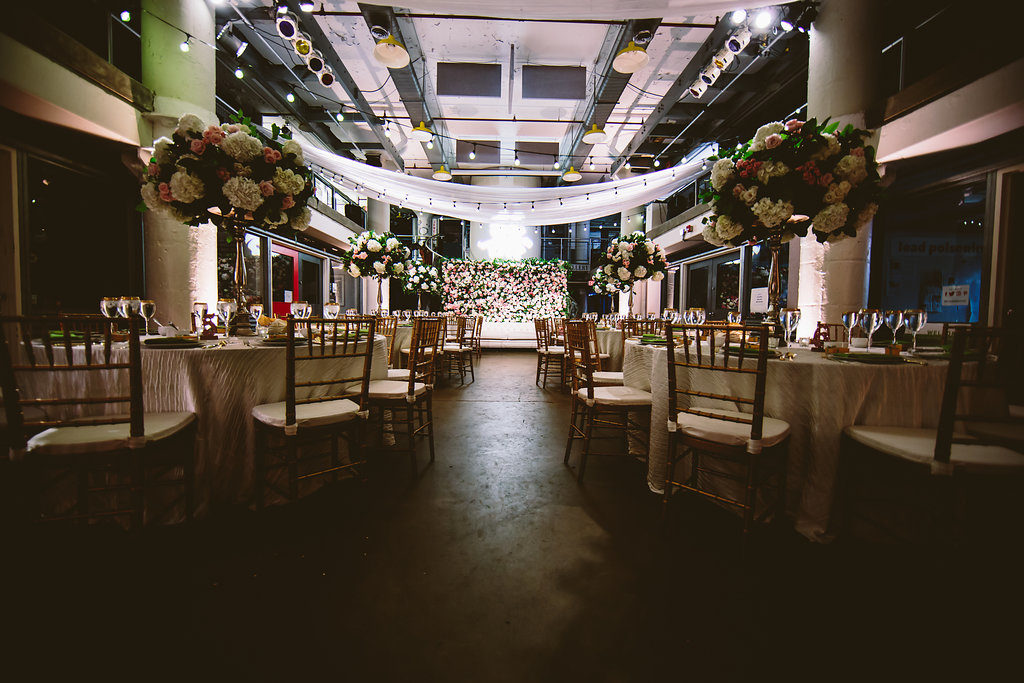 torpedo-factory-wedding-alexandria-virginia-pink-green-lighting-draping