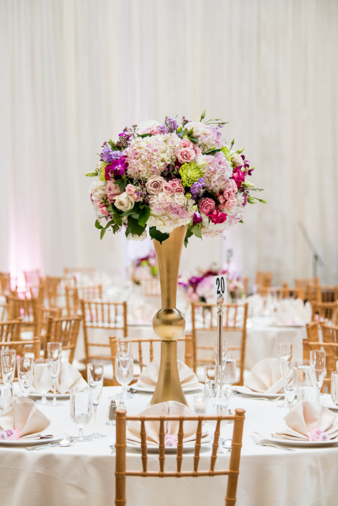 blush-pink-fuchsia-mauve-gold-tall-floral-centerpiece