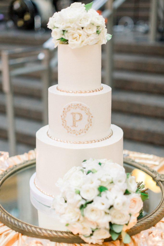 buttercream-bakeshop-wedding-cake-fondant-round-gold-monogram (3)